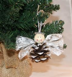 Image result for Pine Cone Angel Ornament