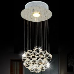 Hoy con el 46% de descuento. Llévalo por solo $193,000.LightMyself cristal Gotas de lluvia LED de la lámpara.