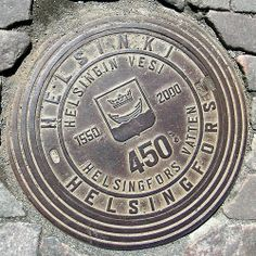 Manhole cover, Helsinki, Finland.