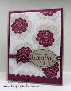 7/26 Stampin' Up! Raining Flowers - Stamping To Share