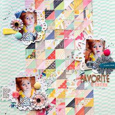 FAVORITE FACES scrapbook layout by Paige Evans