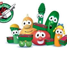 VeggieTales Help Kids Learn About Giving As we prepare to celebrate God's amazing gift—the sending of His Son—Christmas is a perfect time to show His love to others. This season, Operation Christmas Child and Veg Preschool Christmas, Christmas Holidays, Christmas Ornaments, Christmas Baking, Merry Christmas, Operation Christmas Child Shoebox, Samaritan's Purse, Veggietales, Christmas Blessings