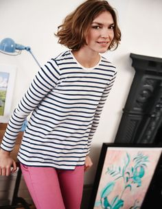 Featherweight Swing Tee WO088 Long Sleeved Tops at Boden