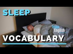 (14) Sleep vocabulary and expressions - ESL - YouTube