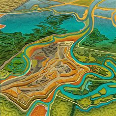 ART QUILT - Sanitary Art | Quilted Topography