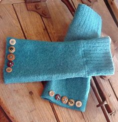 Turquoise Arm Warmers Wool Cozy Wrist by itsyourcountryspirit, $34.99