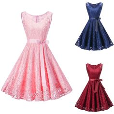 Women's Vintage Lace Formal Wedding Cocktail Evening Party Prom Swing Dress New   eBay