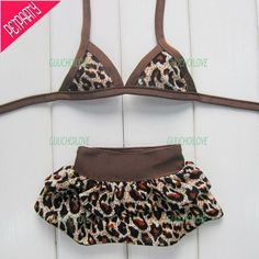 Doggy Leopard Print Dog-kini                                                                                                          .:BēLLäSFãSh!oN:.