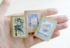 mini books for collecting (in this case, stamps)                                                                                                                                                                                 More