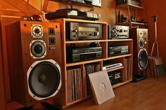 Dynaudio – Emit series Hi-Fi Speakers & Home Theatre – The Cameron Team – Audioroom Home Music Rooms, Home Theater Rooms, Home Theater Speakers, Home Speakers, Audio Rack, Vinyl Room, Vinyl Storage, Hifi Audio, Audiophile Music
