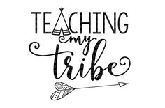 Teaching My Tribe School SVG Files DXF EPS png Cut Files Printable Clipart Silhouette Studio Cameo Cricut Design Space Scrapbooking by SVGDesignShoppe on Etsy