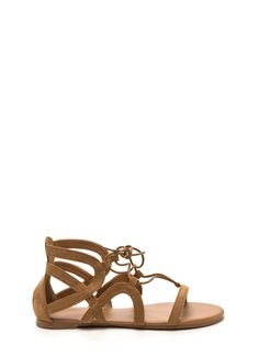Summer Nights Faux Suede Sandals #fauxsuede #sandals #laceup #gojane