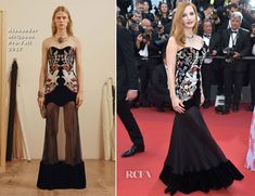 Jessica Chastain In Alexander McQueen – 'Ismael's Ghosts' Cannes Film Festival Premiere