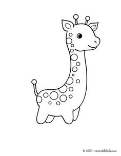 Cute giraffe coloring page -- shape for onesies