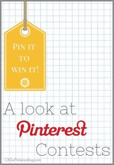 A look at Pinterest contests tools, tips, best practices and more! Should you Pin it to Win it? OhSoPinteresting.com