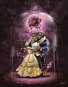 """""""Beauty & the Beast"""" 🌹 - based off the 1991 cartoon movie, it brings back so much memories of my childhood. I remember drawing Bea. Beauty and the Beast Cartoon Cartoon, Stitch Cartoon, Cartoon Movies, Cartoon Characters, Cartoon Plane, Disney Kunst, Disney Art, Belle And Beast, Disney Beauty And The Beast"""
