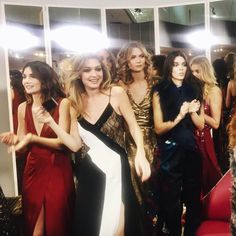 Gigi Hadid, Kendall Jenner and Elle covergirl Karlie Kloss at the NYFW AW16 DVF show