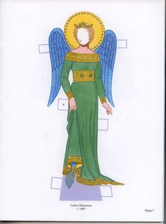 """angel doll costume   costumes are all labeled """"A"""" for Angelica, the other angel doll ..."""