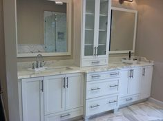 Great marble countertop for the bathroom in the new CR Home Design Center.