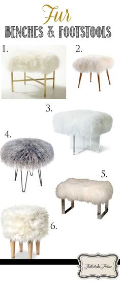 Inspired: Fur Stools & Benches Tidbits&Twine - Ideas and Inspiration for decorating with faux fur stools and benches!Tidbits&Twine - Ideas and Inspiration for decorating with faux fur stools and benches! Diy Zimmer, Home And Deco, New Room, Room Inspiration, Diy Furniture, Furniture Design, Plywood Furniture, Chair Design, Modern Furniture