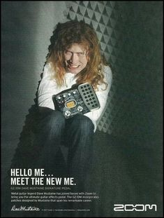 Megadeth Dave Mustaine Signature Zoom guitar effects pedal 8 x 11 ad Nick Menza, Marty Friedman, David Ellefson, Metal Horns, Dave Mustaine, Best Guitarist, Bad Photos, Idole, Joan Jett