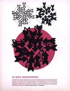 Gebrauchsgraphik magazine, Nov. 1965, ad on back cover
