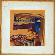 WIfredo Lam - Aquarelle sur papier de l'artiste cubain Wifredo Lam datée aux environs de 1938-1940 - - From the collection of Andre Breton