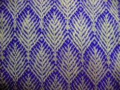The first sample on the Noble loom is finished. Washed and pressed, it is 255 x 18.5 cm (around 100 x 7 inches) with 15 patterns. Most of the patterns came from the Thrilling Twills CD from Fiberwo…