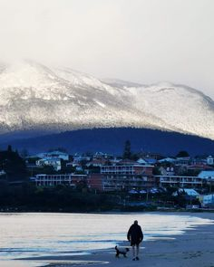 Winter Hobart 2021 from Bellerive Beach. London Lake, Ben Lomond, Cold Front, Ski Slopes, Chilly Weather, Winter Day, Tasmania, Waterfall