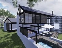 house swart, waterfall estate, contemporary house, steel and glass modern architecture