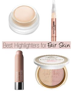 Best Highlighters for Fair Skin including @clinique @TooFaced @lorealparisus @rms_beauty