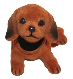 People use to put these in the rear windows of their cars...Golden Retriever Dog Bobble Head Doll