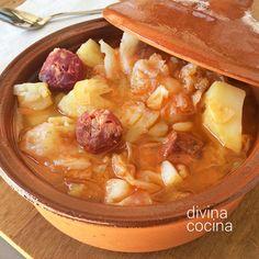 El pote de repollo puede hacerse también con caldo preparado de tetra brik o un caldo de pollo casero, o de puchero.