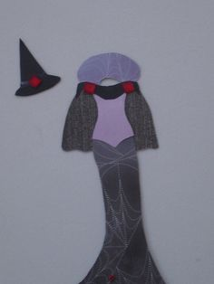 Purple Spider Witch Costume Paper Embellishment by JandKHideaway, $2.00
