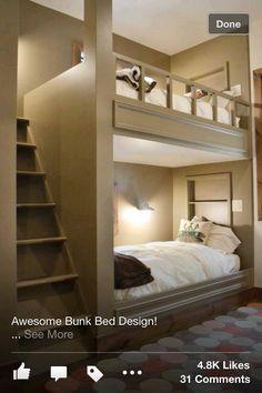 Permanent bunk bed design