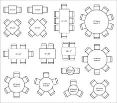 Maxsun - Guide to Restaurant Seating Layout and Design Restaurant Layout, Restaurant Seating, Restaurant Interior Design, Shop Interior Design, Cafe Design, Wood Slab Dining Table, Architecture Concept Drawings, Seating Capacity, Table Sizes