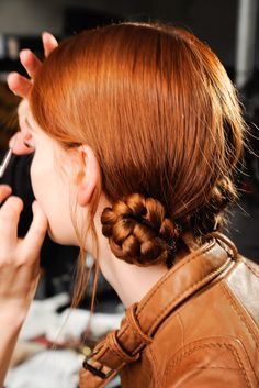 Backstage at Marc Jacobs Fall 2012, New York