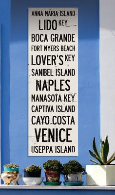 FLORIDA BEACHES 12 x 36 TransitStyle Rollsign by AlpineGraphics, $60.00