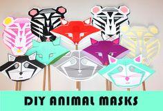 Modern Geometric Animal Masks