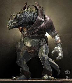 Armored+Lizardman+by+aaronsimscompany.deviantart.com+on+@DeviantArt