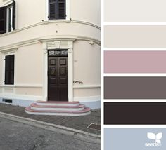 A door tones image via: color palette цвета кра Paint Color Palettes, Paint Colors, Apartment Painting, Hue Color, Color Balance, Color Harmony, Design Seeds, Colour Schemes, Colour Chart