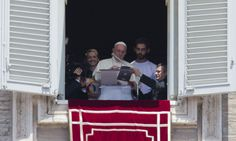VATICAN CITY (AP) — Pope Francis opened the registration period for next year's World Youth Day in Poland, using a tablet computer to sign himself up from a window overlooking St. Peter's Square during the traditional Sunday blessing.