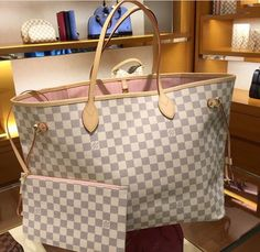Vuitton neverfull gm damier Azur rose ballerine