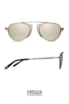 Matsuda   Sun Collection   M3036   in the new color brushed gold offers an  aviator 0b33da90bed1