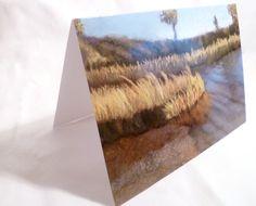 Greeting card 5 x 7 blank inside  Shoreline Landscape by StudioCKH, $4.00