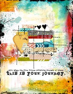 this is your journey life quotes quotes quote colorful hearts artistic life quote journey