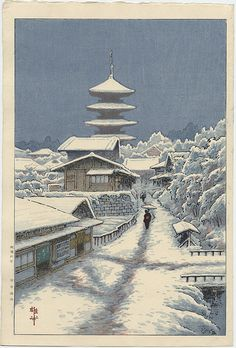 Thumbnail of Original Japanese Woodblock Print by Ito, Yuhan Art Occidental, Japanese Woodcut, Art Asiatique, Japanese Illustration, Art Japonais, Samurai Art, Snow Scenes, Japanese Painting, Japanese Prints