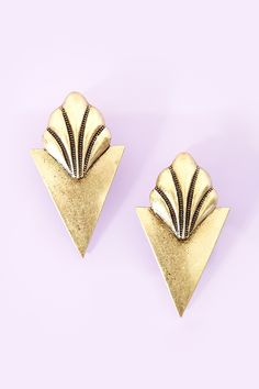 Sharp Shell Earrings