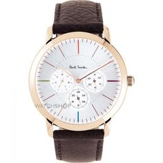 452efaf0c8 Mens Paul Smith MA Multifunction Leather Strap Watch P10112