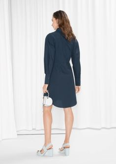 & Other Stories image 3 of Shirt Dress in Navy
